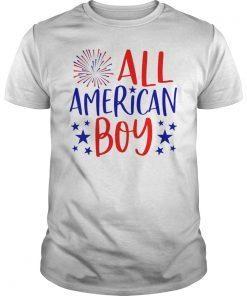 4th of July Family Matching Shirt All American Boy T-Shirt