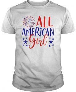 4th of July Family Matching Shirt All American Girl T-Shirt