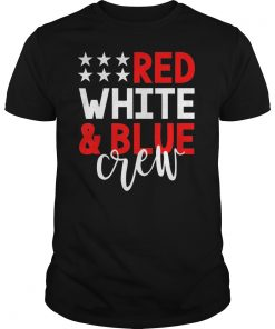 4th of July Group Shirts Red White Blue Crew Family Friends T-Shirt