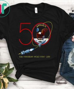 Apollo 11 50th Anniversary Moon Landing 1969 2019 T Shirts