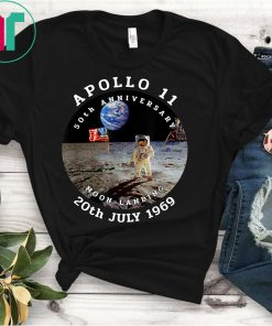 Apollo 11 50th Anniversary Moon Landing 1969 2019 TShirt