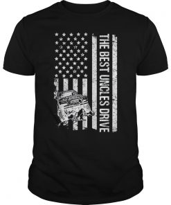 The Best Uncles Drive Jeeps American Flag Father's Day Jeeps T-Shirt