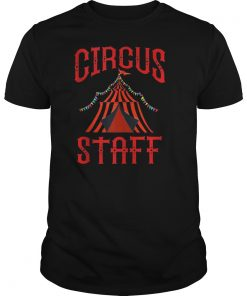 Vintage Circus Themed Birthday Party T Shirt Circus Staff T-Shirt