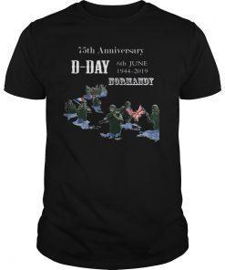 WWII D-Day 75th Anniversary T Shirt Utah Beach Rescue Tee