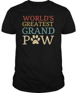 World's Greatest Grand Paw Dog Lovers Best Funny Gift T-Shirt
