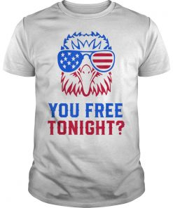YOU FREE TONIGHT USA American Flag Patriotic Eagle Tee Shirt