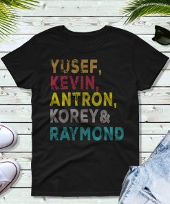 Yusef, Kevin, Antron, Korey, Raymond Unisex Short Sleeve T-Shirt Movie T-shirt Central Park 5 T-Shirt