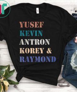 Yusef Kevin Antron Korey and Raymond Central Park 5 Vintage Shirt