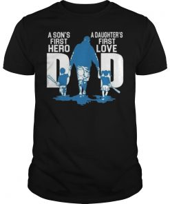 a Daughter first love T shirt Fathers Day T-Shirt Black Birthday Present Men's T-Shirt