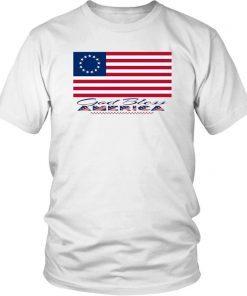 1776 Betsy Ross Flag Gift Shirt American Flag Shirt 13 Stars American Flag Shirt God Bless America Graphic Tee- Original American Flag Tee