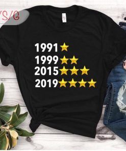 1991 1999 2015 2019 Champions National Soccer Team Shirt finally USA soccer t-shirt USWNT Unisex T-Shirt