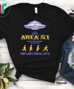 1ST Annual Area 51 5K Fun Run They Cant Stop Us All UFO T-Shirts