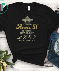 1ST Annual Area 51 5k Fun Run SEPT 20 2019 Gift T-Shirt