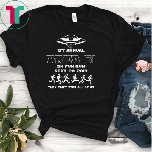 1ST Annual - Area 51 5k Fun Run SEPT 20 2019 Unisex Gift T-Shirts