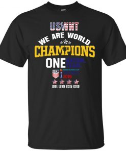 2019 Uswnt We Are World Champions One Nation One Team With 4 Star T-Shirt