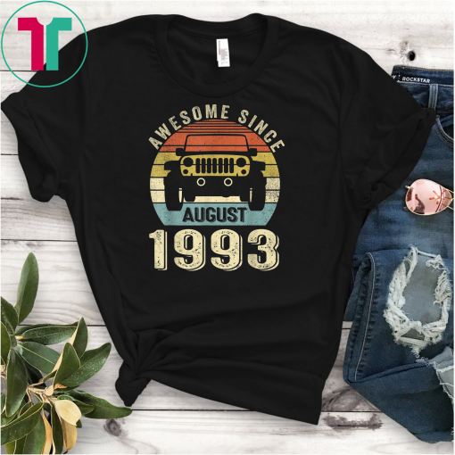 26 Years Old Shirt Funny Awesome Since August 1993 T-Shirt