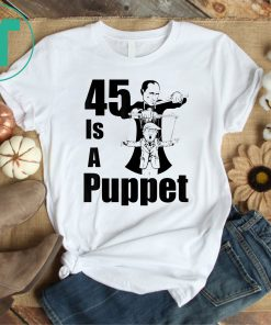 45 Is A Puppet Funny T-Shirt