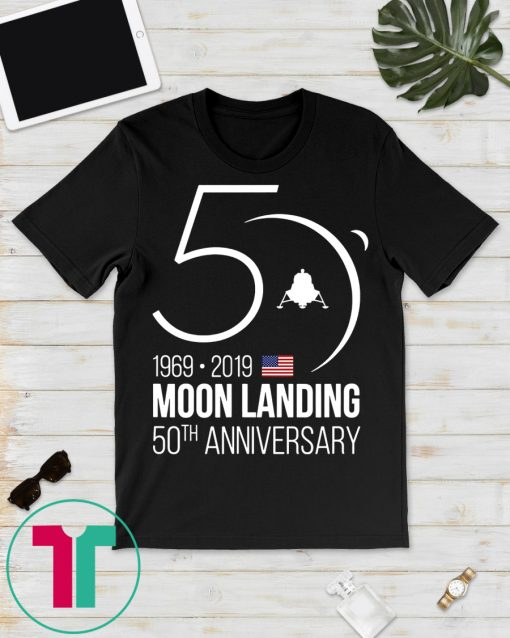 50th Anniversary Apollo 11 Moon Landing 1969 Tee Shirt, Apollo Anniversary