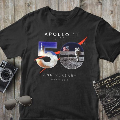 Apollo 11, 50th Anniversary 1969-2019, Moon Landing, First Lunar Landing, Perfect Astronomy Lover Gift T-Shirt