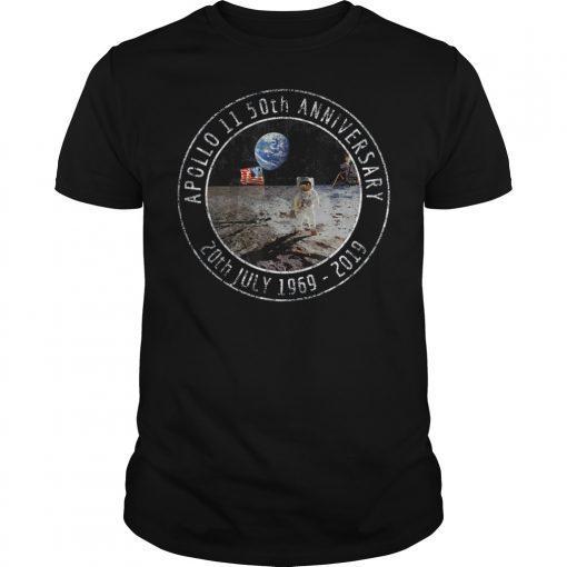 Apollo 11 50th Anniversary Moon Landing 1969 2019 Distressed T-Shirt