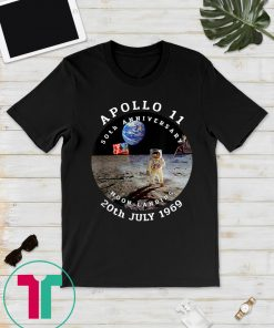 Apollo 11 50th Anniversary Moon Landing 1969 2019 Gift Tee Shirt