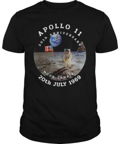 Apollo 11 50th Anniversary Moon Landing 1969 2019 T-Shirts