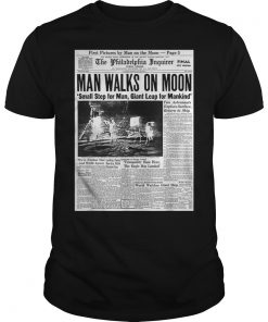 Apollo 11 50th Anniversary Shirt Moon Landing 1969 Newspaper