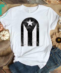 Bandera Negra Famosa Puerta de San Juan Puerto Rico Top T-Shirt