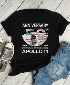 First Moon Landing Shirt 50th Anniversary Apollo 11 50th Anniversary First Man On The Moon 1969 2019 Lunar Mission Astronomy Science Gift