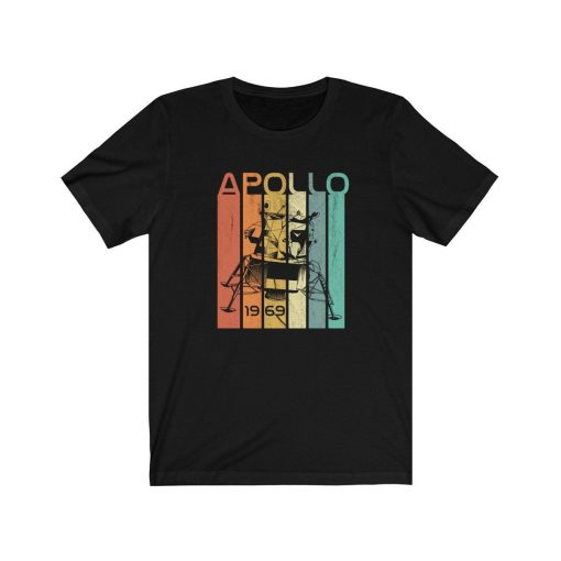 Moon Landing 50th Anniversary Shirt, Apollo 11 T Shirt, Space Lover Gift, Vintage Coloring, Retro Science Shirt, Man On Moon 50 Years