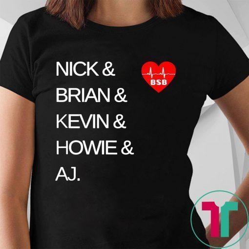 Backstreet Boys We All Love BSB Band Names 90s Music T-Shirt