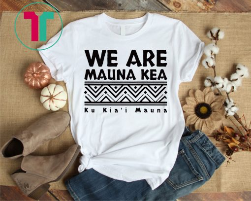Tribal Black We Are Mauna Kea T-Shirt