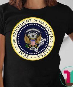 Trump Parody Fake Presidential Seal 45 Puppet Russian Eagle Anti Trump Shirt