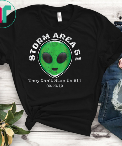 Vintage Storm Area 51 Green Alien Head T-Shirt