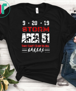 Vintage Storm Area-51 They Cant Stop Us All 5K Fun Run Shirts