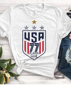 Women's National Soccer Team Shirt 4th star USWNT Alex Morgan, Julie Ertz, Tobin Heath, Megan Rapinoe. Unisex T-Shirt