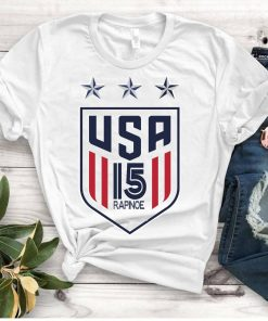 Women's National Soccer Team Shirt USWNT Alex Morgan, Julie Ertz, Tobin Heath, Megan Rapinoe. Unisex T-Shirt