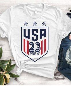 Women's National Soccer Team Shirt USWNT Press,Alex Morgan, Julie Ertz, Tobin Heath, Megan Rapinoe Unisex Gift TShirt