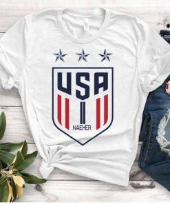 Women's National Soccer Team Shirt USWNT naeher,Alex Morgan, Julie Ertz, Tobin Heath, Megan Rapinoe. Unisex T-Shirts