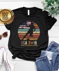 Women's Soccer World Champions tshirt usa 2019 shirt vintage tshirt flag of usa Short-Sleeve Unisex T-Shirt