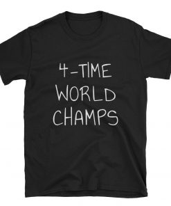 World cup champion 4-Time world champs golden cup champions Short-Sleeve Unisex Tee Shirt