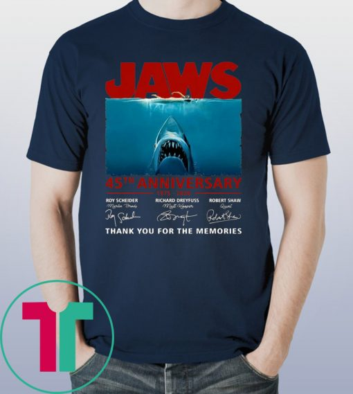 45th Years Of Jaws Anniversary Shark T-Shirt