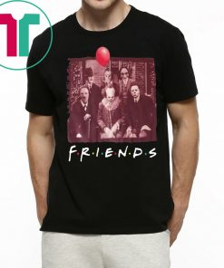 Original Horror Movie Characters Friends TV Show T-Shirt