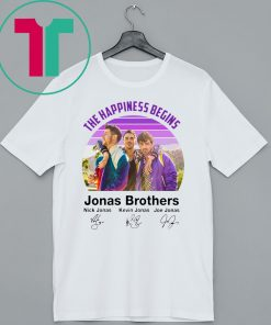 Signatures The Happiness Begins Jonas Brothers Shirt