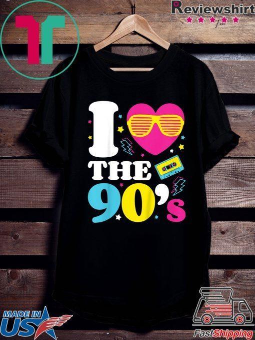 1990's 90s TShirt I Heart the Nineties Shirt
