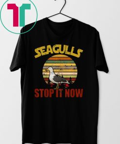 Vintage Retro Seagulls Bird Lover Stop It Now TShirt