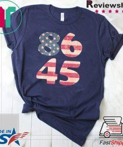 8645 Impeach President Trump American Flag Shirt
