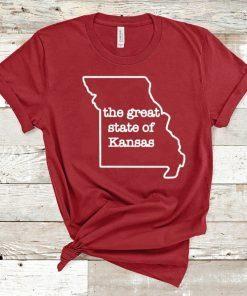 The Great State of Kansas kansas city chiefs Shirt
