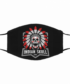 Native American Skull Black Cotton Face Mask Free Shipping