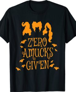 Zero Amucks Given Funny Amuck With Bat Halloween Witch Shirt